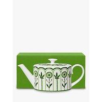 William Edwards Sultans Garden Gift-Boxed Teapot, 550ml, Green/White