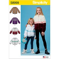 Simplicity Children's and Girls' Hooded Jackets Sewing Pattern, 8999
