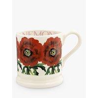 Emma Bridgewater Flowers Red Anemone Half Pint Mug, 280ml, Red/Multi