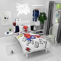 Marvel Spiderman Reversible Duvet Cover and Pillowcase Set, Single, Multi