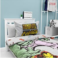 Marvel Avengers Reversible Duvet Cover and Pillowcase Set, Single, Multi