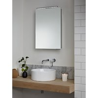 image-John Lewis & Partners Ariel Single Mirrored and Illuminated Bathroom Cabinet