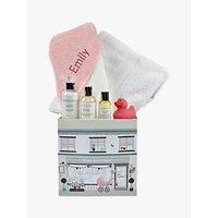 Babyblooms Personalised Baby Bathtime Hamper, Light Pink
