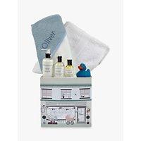 Babyblooms Personalised Baby Bathtime Hamper, Light Blue