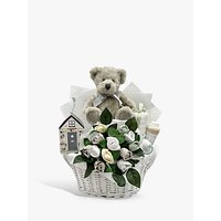 Babyblooms Bertie Bears New Baby Gift Basket, White