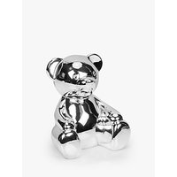 John Lewis and Partners Silver-Plated Teddy Money Box