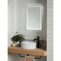 image-John Lewis & Partners Frame Wall Mounted Illumintaed Bathroom Mirror, Medium
