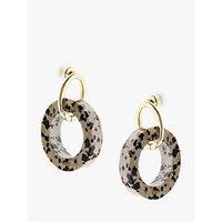 shop for Tutti & Co Round Jasper Drop Earrings, Gold/Multi at Shopo