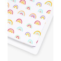 image-Sn├╝z Baby Rainbow Cot/Cotbed Fitted Sheets, 2 Piece Set, Multi/White