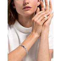 shop for Swarovski Louison Marquise Crystal Bracelet, Silver/Blue at Shopo