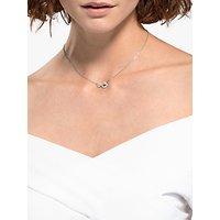 shop for Swarovski Infinity Crystal Pendant Necklace, Silver at Shopo