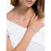 shop for Swarovski Crystal Tennis Bracelet, Silver/Blue at Shopo