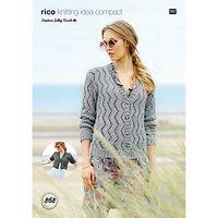 Rico Design Creative Silky Touch DK Women's Cardigan Knitting Pattern, 868
