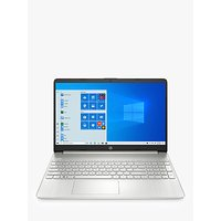 HP 15s-eq0004na Laptop, AMD Ryzen 3, 4GB RAM, 128GB SSD, 15.6 Full HD, Natural Silver
