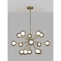 John Lewis & Partners Huxley Chandelier Ceiling Light, Smoke/Antique Brass
