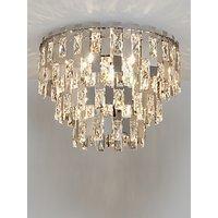 John Lewis & Partners Waterfall Crystal Semi Flush Ceiling Light, Clear/Chrome