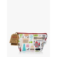 Milly Green Recycled Cotton London Adventures Makeup Bag