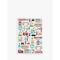 Milly Green London Adventures Recycled Cotton Tea Towel
