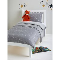 little home at John Lewis Stardust Reversible Duvet Cover and Pillowcase Set, Single