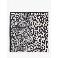 John Lewis & Partners Leopard Print Silk Scarf