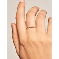 shop for PDPAOLA Cubic Zirconia Stacking Band Ring, Gold at Shopo