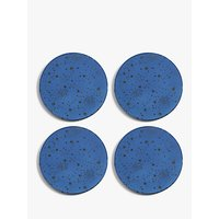 shop for John Lewis & Partners Star Mirror Round Coasters, Set of 4, Blue at Shopo