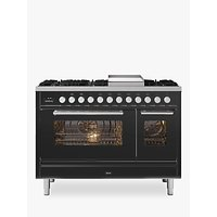 ILVE Roma P12FWE3/MG Double Oven Dual Fuel Range Cooker, A+ Energy Rating, Matt Graphite