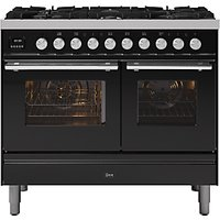 ILVE Roma PD106WE3/MG Double Oven Dual Fuel Range Cooker, A+ Energy Rating, Matt Graphite