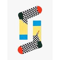 Happy Socks Paint Socks, One Size, Yellow/Multi.