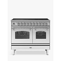 ILVE Milano PDI10NE3/SSC Double Oven Electric Induction Hob Range Cooker, A+ Energy Rating, Stainless Steel
