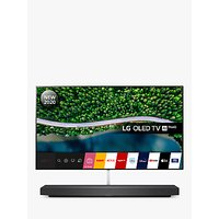 LG OLED65WX9LA (2020) SIGNATURE OLED HDR 4K Ultra HD Smart TV, 65 inch with Freeview HD/Freesat HD, Picture-On-Wall Design and Dolby Atmos Sound Base Unit, Black