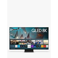 Samsung QE75Q800T (2020) QLED HDR 2000 8K Ultra HD Smart TV, 75 inch with TVPlus/Freesat HD, Black