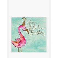 Janie Wilson Fabulous Flamingo Birthday Card