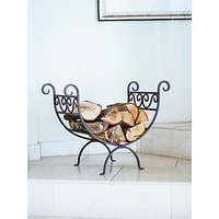 image-Ivyline Vintage Iron Log Holder