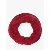 John Lewis and Partners Chunky Cable Snood, Red