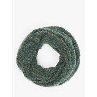 John Lewis and Partners Boucle Snood, Green Mix