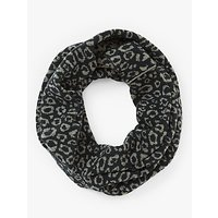 John Lewis and Partners Animal Print Snood, Navy Mix