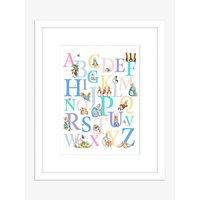 Beatrix Potter - Peter Rabbit Children's Alphabet Framed Print & Mount, 53.5 x 43.5cm, White/Multi
