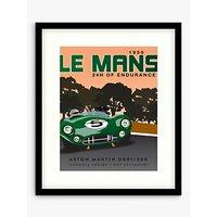 Zucarto Art Studios - Le Mans 1959 Car Race Framed Print & Mount, 63.5 x 53.5cm, Green/Multi