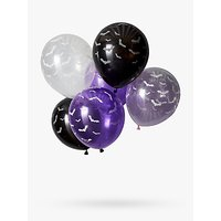 Ginger Ray Halloween Glow in the Dark Bat Balloons, Pack of 6