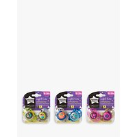 Tommee Tippee Ultra Light Nighttime Silicone Soothers, 18-36 months, Pack of 2