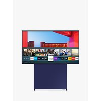 Samsung The Sero (2020) QLED HDR 4K Ultra HD Smart TV, 43 inch with Rotating Screen and TVPlus, Navy Blue