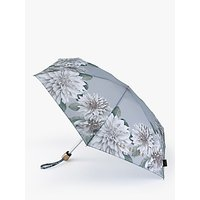 Ted Baker Border Flower Telescope Umbrella, Grey/Multi