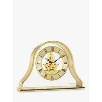 image-London Clock Company Napoleon Roman Numerals Analogue Skeleton Mantel Clock, Gold