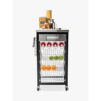 image-Hahn Ashwell Kitchen Butcher's Trolley with Stainless Steel Top