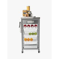 Hahn Ashwell Kitchen Butcher's Trolley with Stainless Steel Top