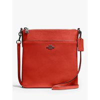 Coach Messenger Leather Cross Body Bag, Mango
