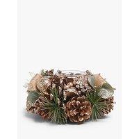 John Lewis & Partners Renaissance Pine Cone Tealight Holder