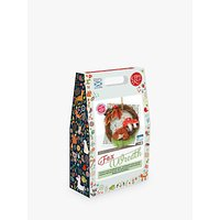 image-The Crafty Kit Company Needle Felt Fox and Mushroom Wreath Craft Kit