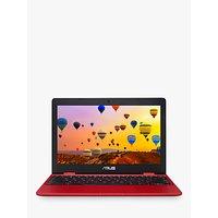 ASUS C223 Chromebook Laptop, Intel Celeron Processor, 4GB RAM, 32GB eMMC, 11.6 HD, Red